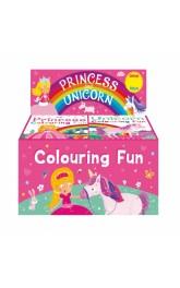 Unicorn & Princess Colouring Fun 24 in box