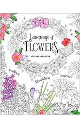 Flowers ,Adult Colouring Book