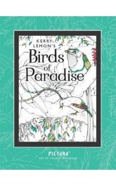 Birds and Paradise,Art to collect and colour