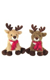 "10"" Reindeer with scarf"