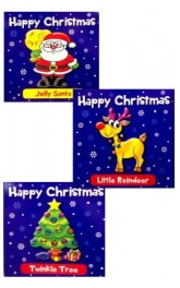 Happy Christmas mixed board books