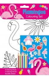 Flamingos ,Colouring set