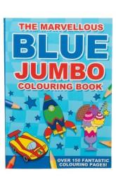 Blue Jumbo Colouring Book