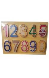 Wood Chunky Puzzle Numbers