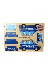 Wood 3D Puzzle -Police