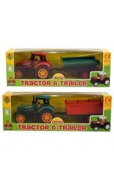 Farm Tractor and Trailer 2 assorted